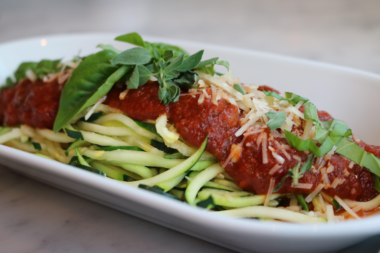 Zucchini noodles and Spaghetti Sauce