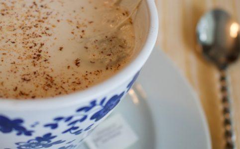 Chai Tea made with homemade almond milk