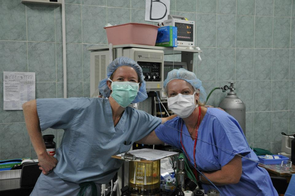 Nurse Anesthetists at Work on Medical Mission Trip in San Lucas Toliman, Guatemala