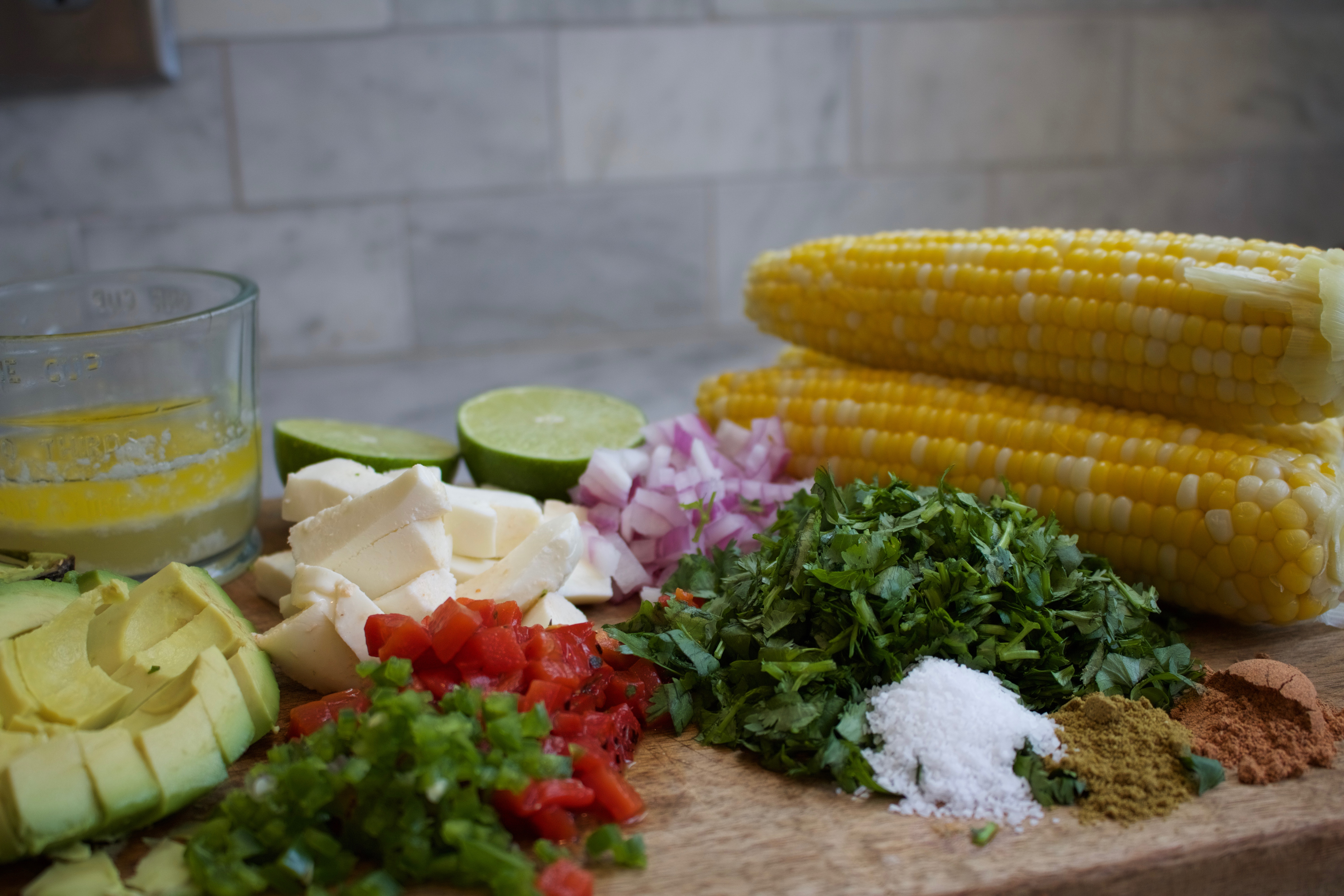 Corn Salad with Roasted Red Peppers Ingredients