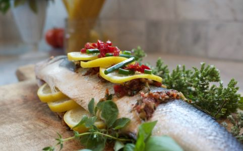 Mediterranean Inspired Fresh Whole Fish. Whole fish, health benefits of fish