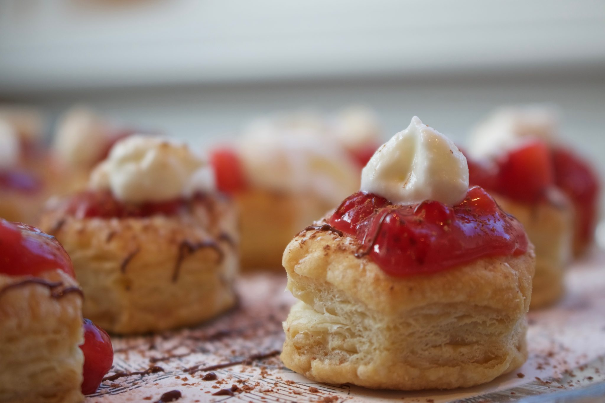 Strawberry Puff Pastry Cups