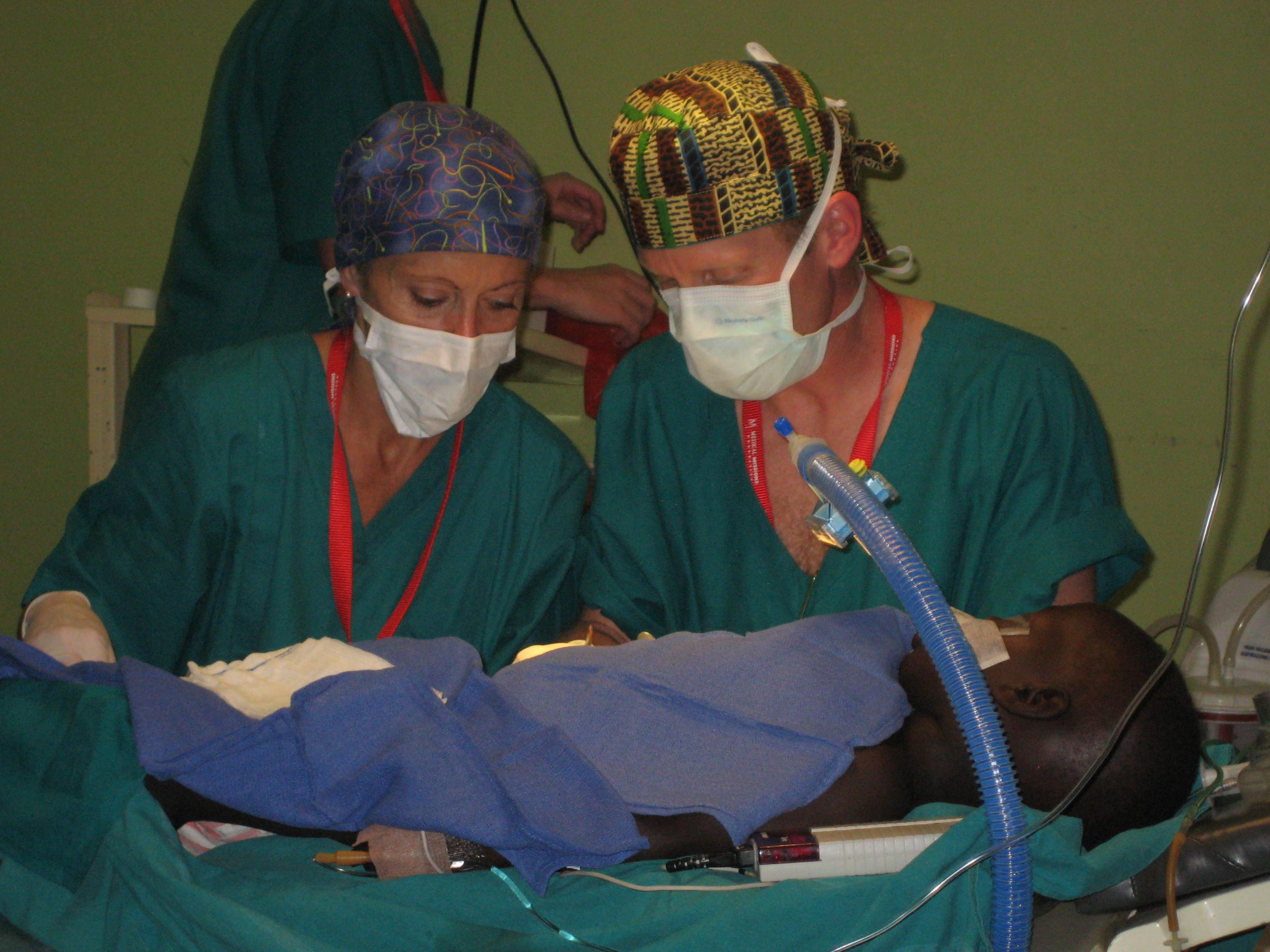 Scrub nurse, first assist, surgeon, anesthesia, mission work