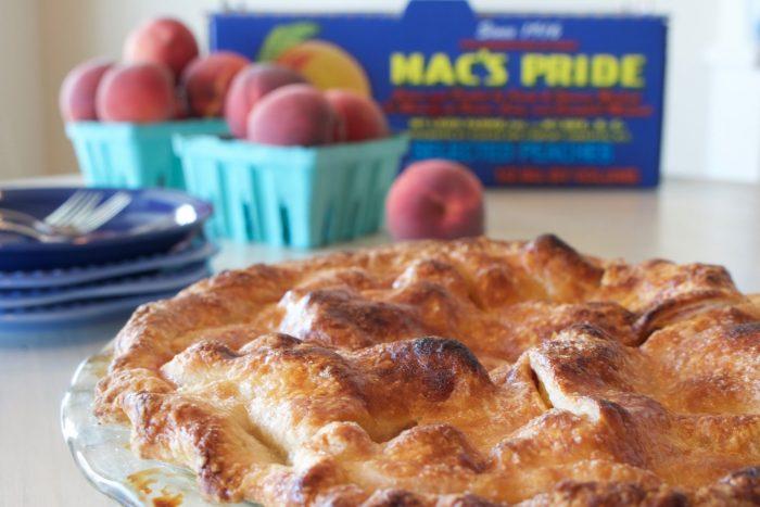Double crust peach pie