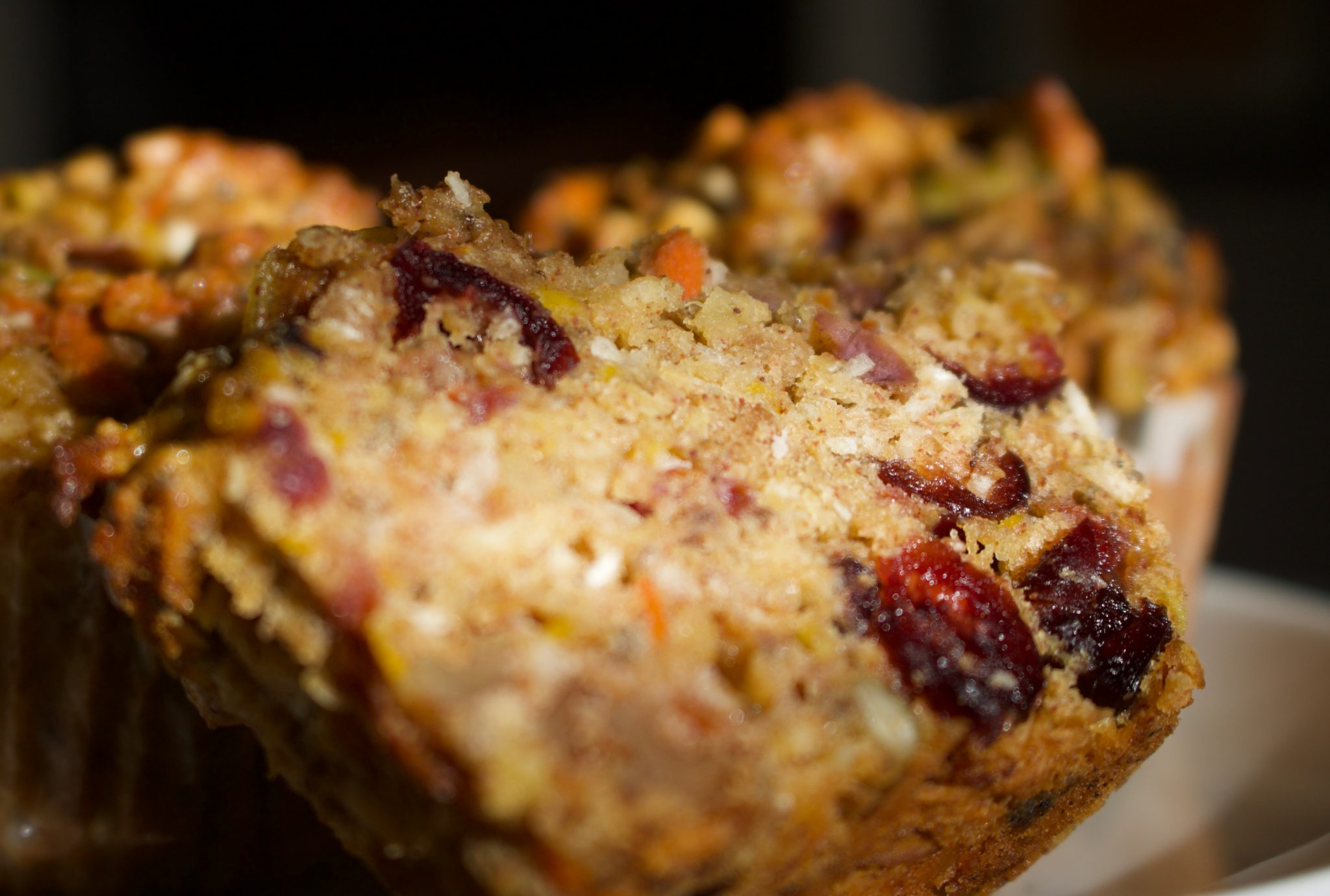 healthy muffins with nuts, seeds, fruit, veggies