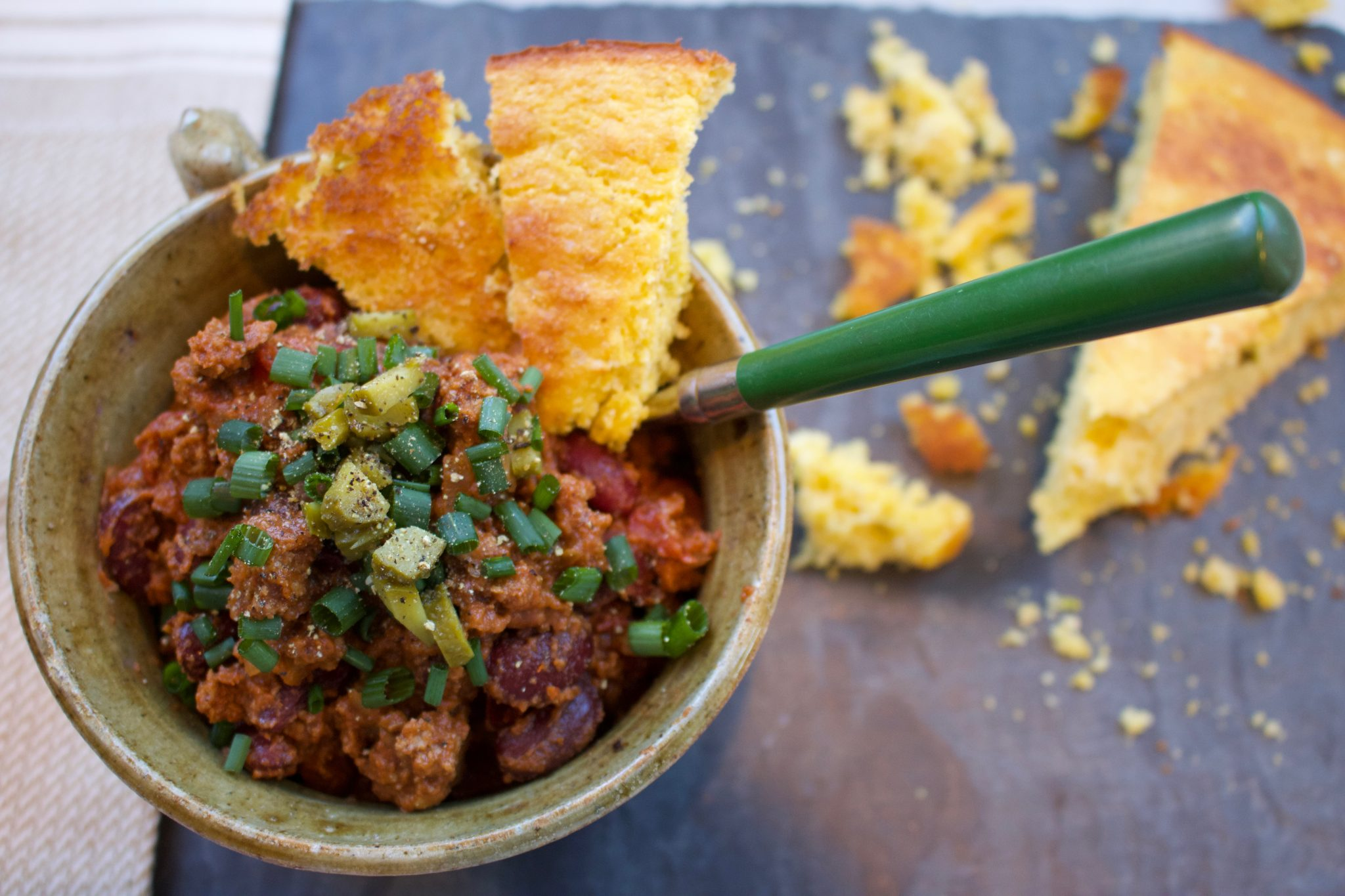 Quick and Easy Chili and Cornbread