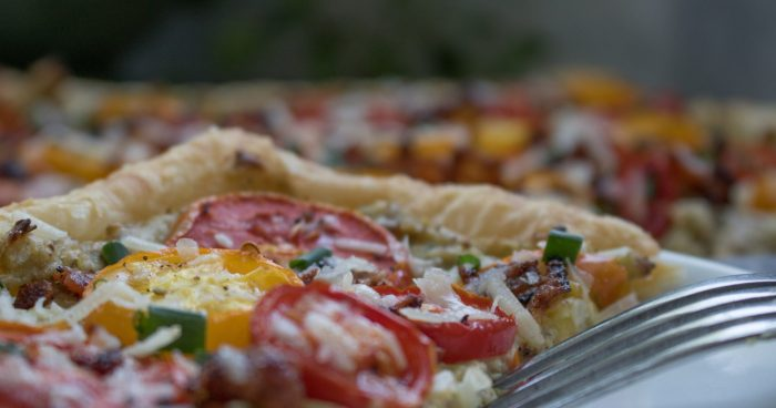 Tomato & Phyllo Tart