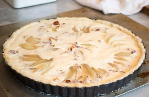 Pear and Almond tart before cooking