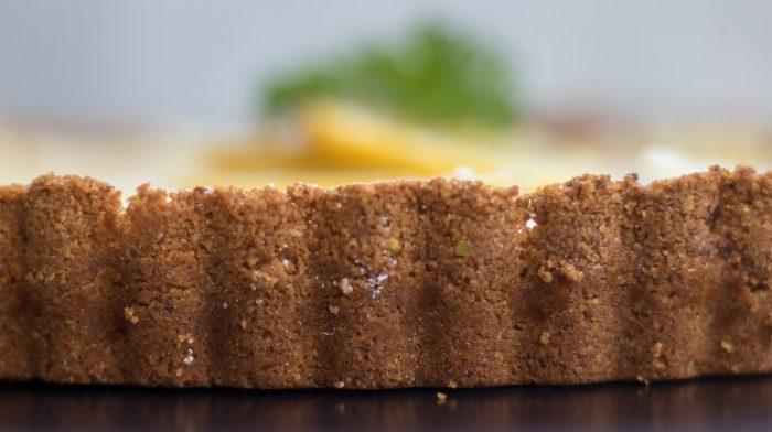 Pistachio cardamom lemon tart crust