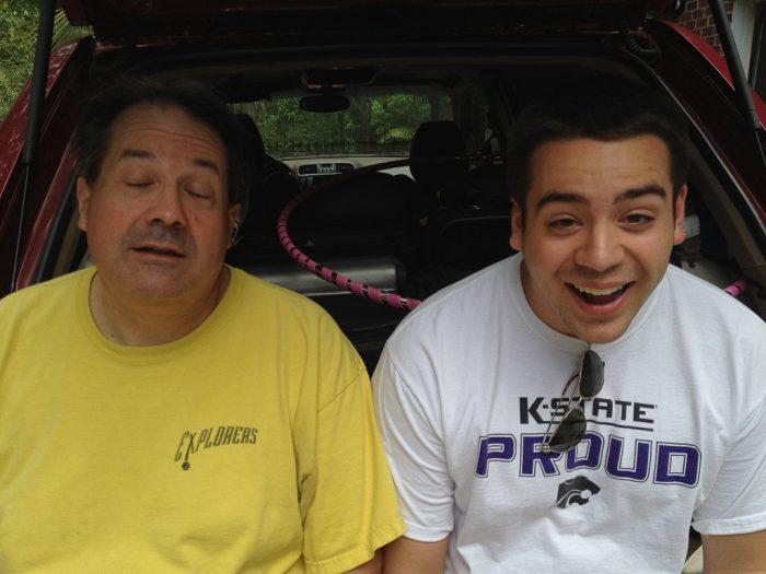 Two goofy people