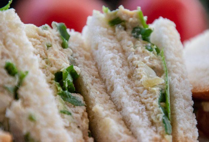 chicken salad sandwich triangles