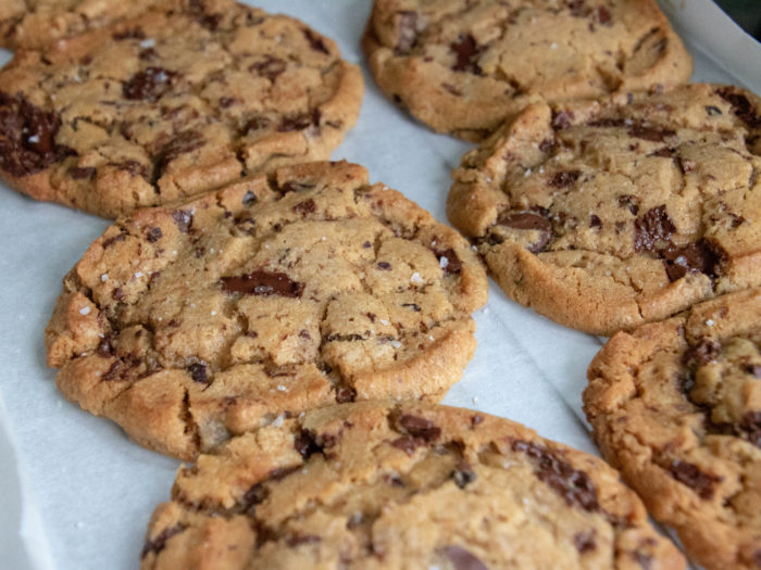 Giant signature chocolate chip cookies
